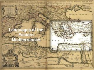 Languages of the Eastern Mediterranean