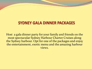 Sydney Gala Dinner Packages