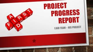 Project 				Progress 			Report