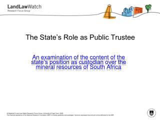 The State's Role as Public Trustee