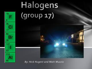 Halogens (group 17 )