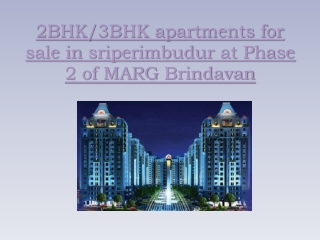 2BHK, 3BHK apartments for sale in sriperimbudur