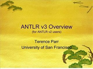 ANTLR v3 Overview for ANTLR v2 users