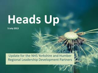 Heads Up 5 July 2013
