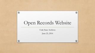 Open Records Website
