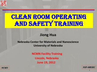 CLEAN ROOM OPERATING and safety TRAINING
