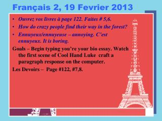 Français 2, 19 Fevrier 2013