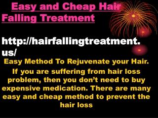 Easy and Cheap Hair Fall Treatment
