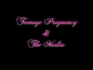 Why is it that there are so many teenage girls getting pregnant each year?