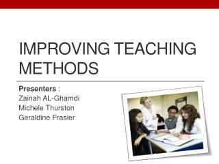 IMPROVING TEACHING Methods