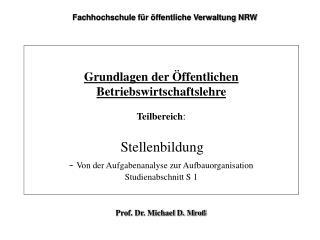 Prof. Dr. Michael D. Mroß