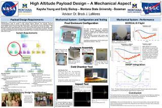 High Altitude Payload Design – A Mechanical Aspect