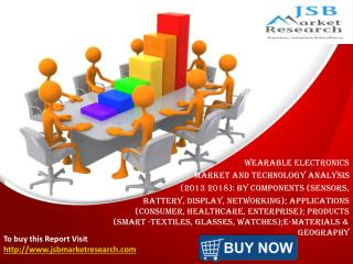 JSB Market Research: Wearable Electronics Market