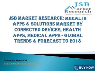 JSB Market Research: mhealth Apps & Solutions Market