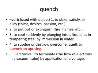 quench