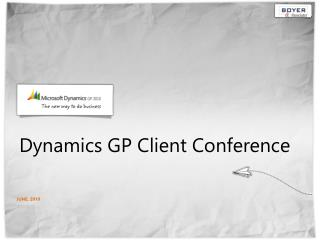 Dynamics GP Client Conference