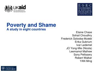 Poverty and Shame A study in eight countries