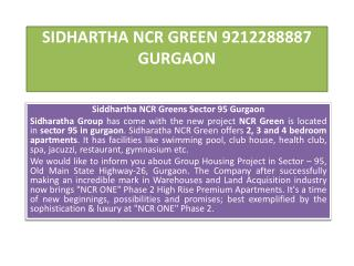 SIDHARTHA NCR GREEN 9212288887 GURGAON