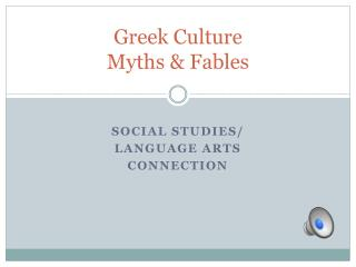 Greek Culture Myths & Fables