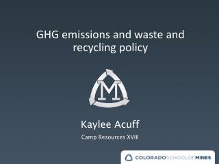 GHG emissions and waste and recycling policy