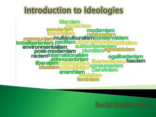 Introduction to Ideologies