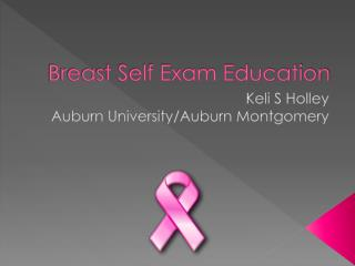 Breast Self Exam Education
