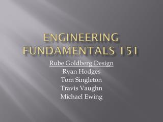 Engineering Fundamentals 151
