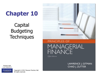 Chapter 9 -  Capital Budgeting    Decision Criteria