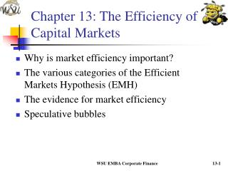 Chapter 13: The Efficiency of Capital Markets