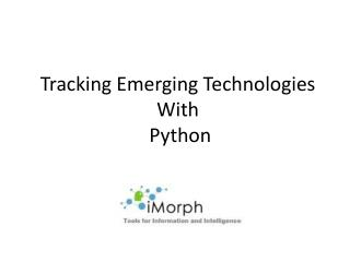 Tracking Emerging Technologies With  Python