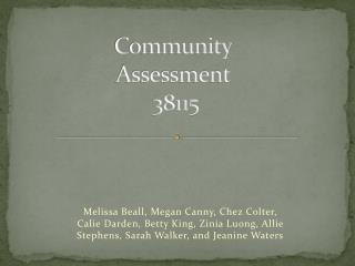 Community Assessment  38115