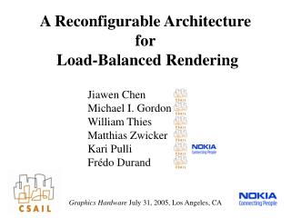 A Reconfigurable Architecture for  Load-Balanced Rendering