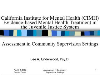 Lee A. Underwood, Psy.D.