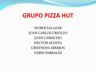 GRUPO PIZZA HUT
