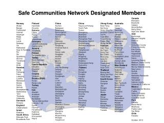 Safe Communities Network D esignated M embers