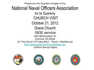 Please join the Quantico Chapter of the National Naval Officers  Association