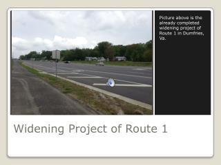 Widening Project of Route 1