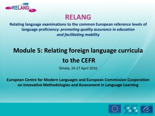 The Common European Framework of Reference: a Developing Standard