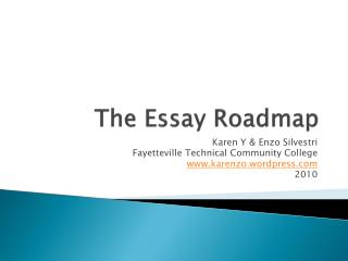 The Essay Roadmap