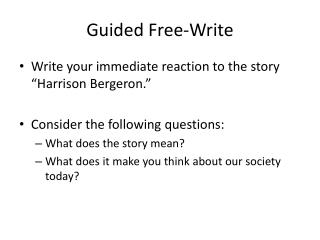 Guided Free-Write