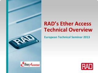 RAD's Ether Access  Technical Overview