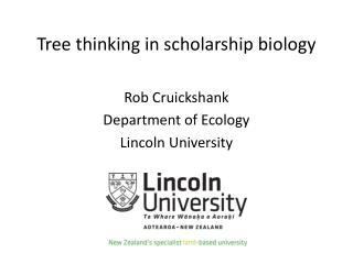 Tree thinking in scholarship biology