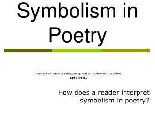 Symbolism in Poetry