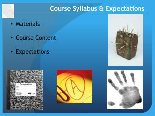 Course Syllabus & Expectations