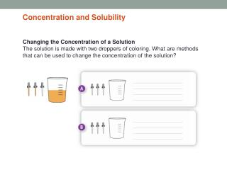 Changing the Concentration of a Solution