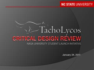 Critical  design review NASA University Student Launch Initiative