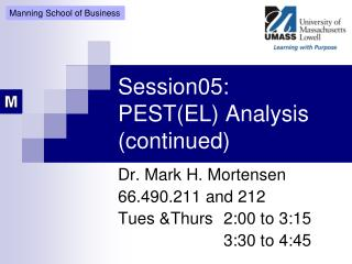 Session05: PEST(EL) Analysis (continued)