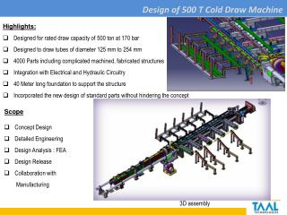 Design of 500 T  Cold Draw Machine