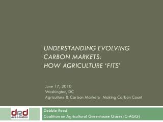 Understanding evolving carbon markets: how agriculture 'fits'