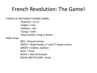 French Revolution: The Game!